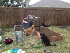the new raised bed and stock tank plus the 3G Network