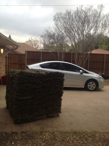 just in case you were doubting that it was a big pile of sod...measured against my car