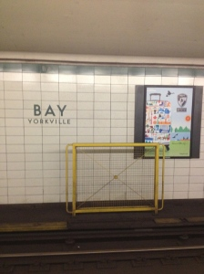 Bay station in Toronto's Yorkville neighborhood