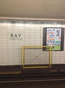 Bay station in Toronto's Yorkville neighborhood